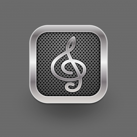 melodies: Clef icon  Vector eps 10
