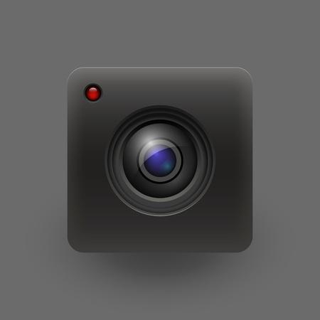 Camera lens  Vector illustration  Eps 10 Vector