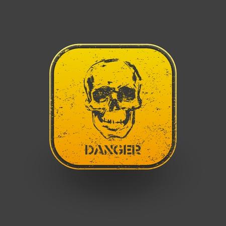 skull icon: Skull icon  Vector  eps10 Illustration