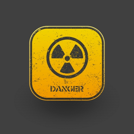 nuclear weapons: Sign radiation icon  Vector eps10