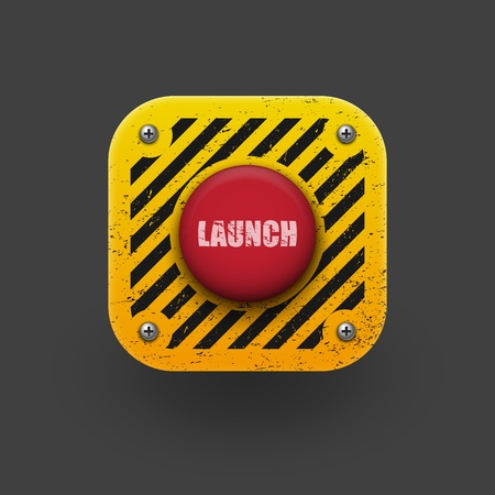 launching: Launch button icon  Vector eps10
