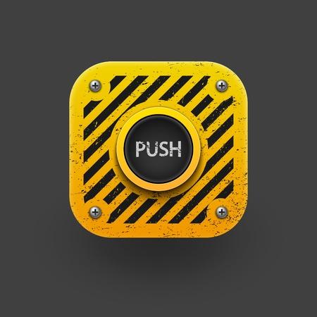 activation: Push button icon  Vector eps10 Illustration