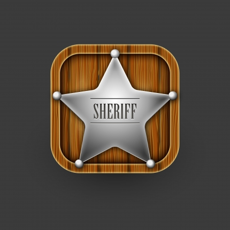 Sheriff badges icon  Vector eps10 Vector