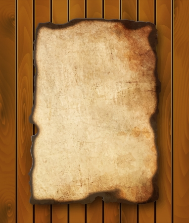 burnt edges: Old  paper with burnt edges isolated on white background  Vector  eps10 Illustration