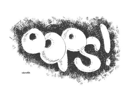 oups: oops � la main fond Doodle