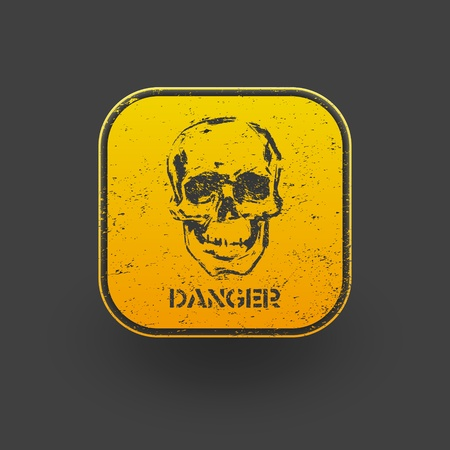 Danger icon. Vector eps 10 Stock Vector - 20957759