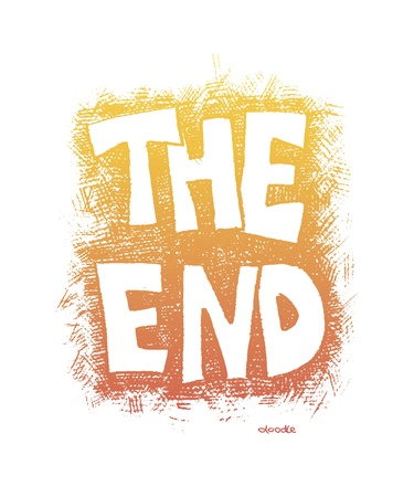 film title: The End. Hand drawn. Vector eps8