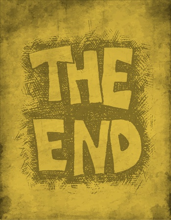 The End. Hand drawn. Vector eps8 Vector
