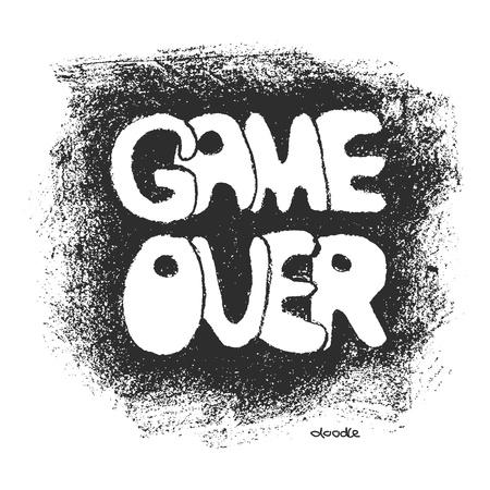 renuncia: Game over. Dibujado a mano. Vector eps8