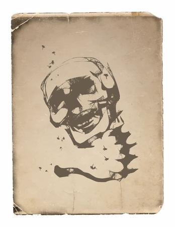 Skull - a mark of the danger  warning Stock Vector - 20961342