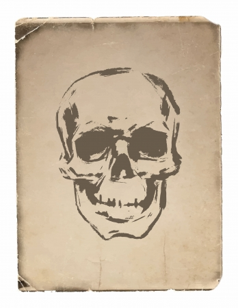 Skull - a mark of the danger  warning Vector