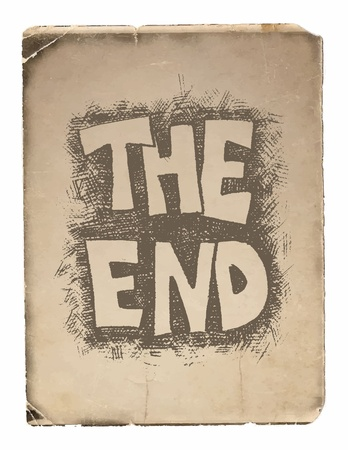 title hands: The End. Hand drawn. Vector eps8