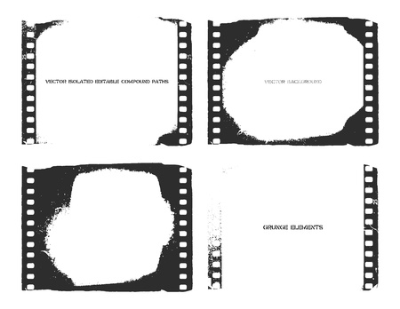 film strip illustration.  Vector