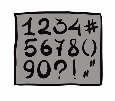 digits. hand drawn. Vector eps8 Vector