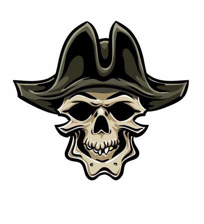 skull and cross bones: Skallywag Pirate Skull. Vector eps8