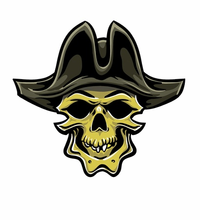 Skallywag Pirate Skull. Vector eps8 Vector