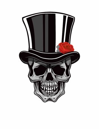 top black hat: Cartoon Vector Joker . Hand drawn.