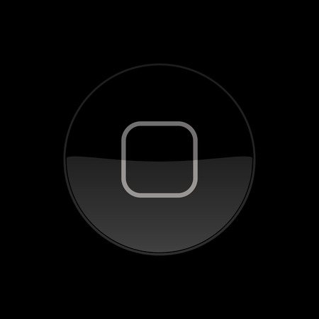 Home Button, Icon. Round.  Vector