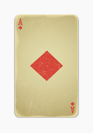 vintage simple background   playing card Vector