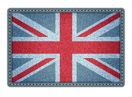 Great Britan flag  Realistic denim   Vector