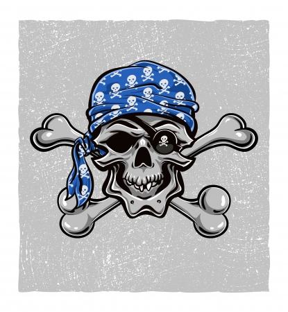 skull vector: Skallywag Pirate Skull  Vector