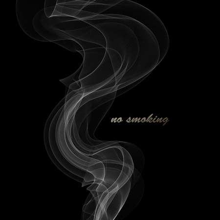 Smoke background Abstract composition illustration Vector Illustration
