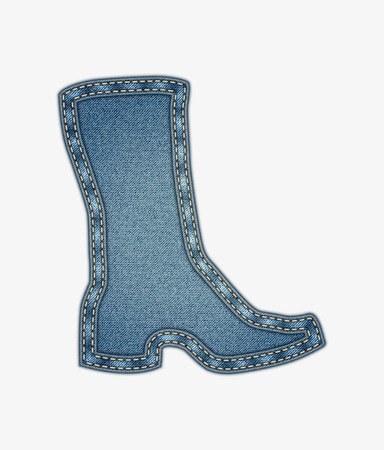 strap: vector background with denim boot  Illustration