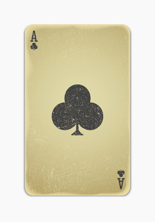 collectible: vintage simple background   playing card Illustration