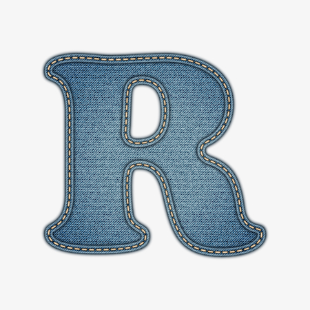 bright alphabet: Denim letter  Jeans alphabet