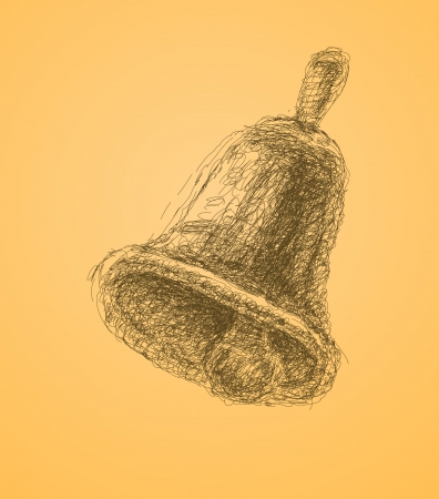 knell: illustration of handlebell  Illustration
