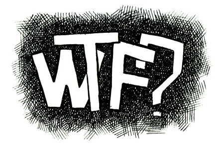 popular: WTF? Hand drawn. Popular expression - Jpeg version.