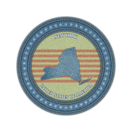 Label with map of new york. Denim style. Vector eps 10 Vector