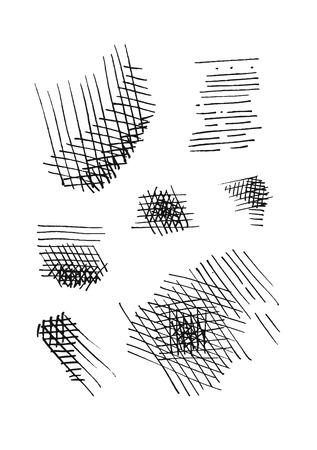 crosshatching: hatching elements set.  vector eps 8