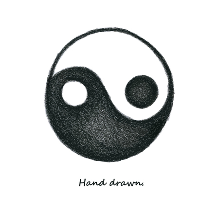yinyang: Yinyang. Hand drawn. Vector. eps 8