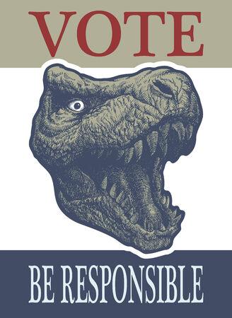 presidency: Vote label. Hand drawn.