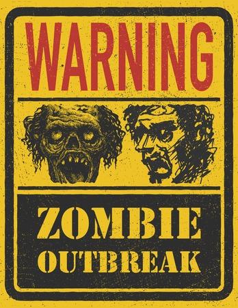 maniaco: Zombie Outbreak. Disegnata a mano.