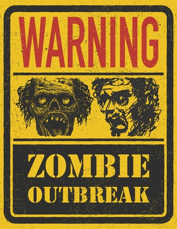 outbreak: Zombie Outbreak. Hand drawn. Illustration