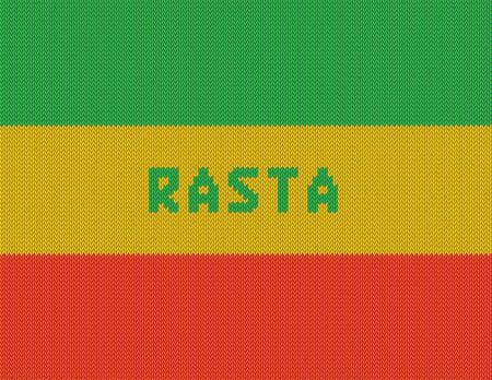 Rasta Background  Wicker rasta flag  Realistic  Vector
