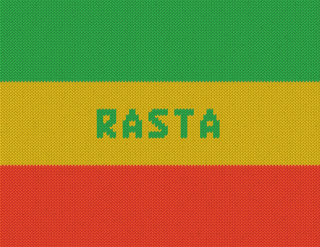 rastafarian: Rasta Background  Wicker rasta flag  Realistic  Illustration