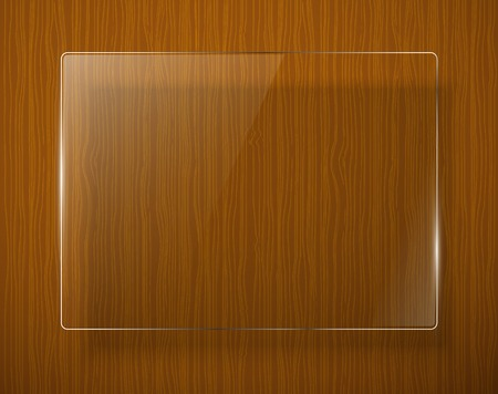 panelling: Wooden texture with glass framework illustration Illustration
