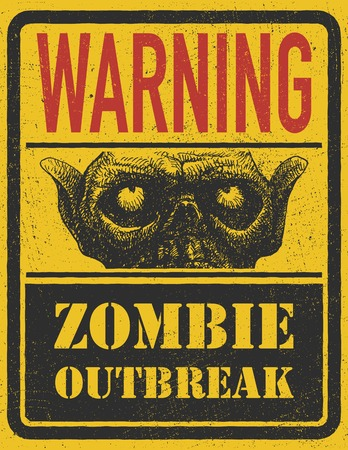 Poster Zombie Outbreak.  Vector