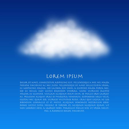 적란운: 벡터 구름 현실적인 그림입니다. 벡터 파란색 배경