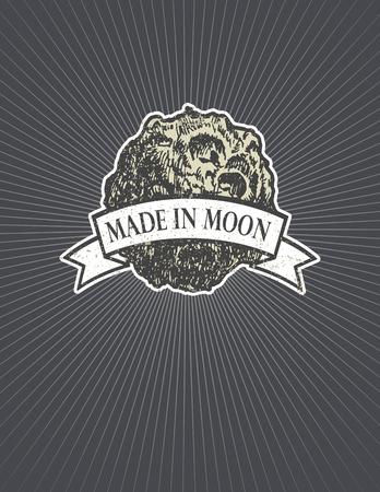 meteorites: asteroid. hand drawn vector illustration
