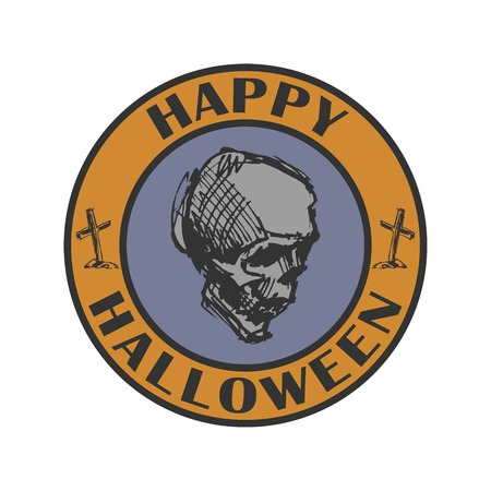 imperfections: Vector sign. Halloween sign.