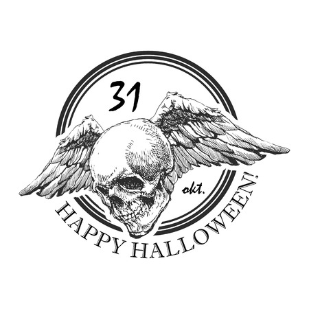 design element for halloween. hand drawn Vector