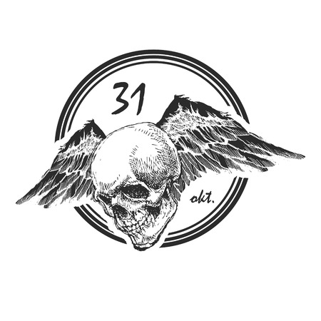 design element for halloween. hand drawn Vector