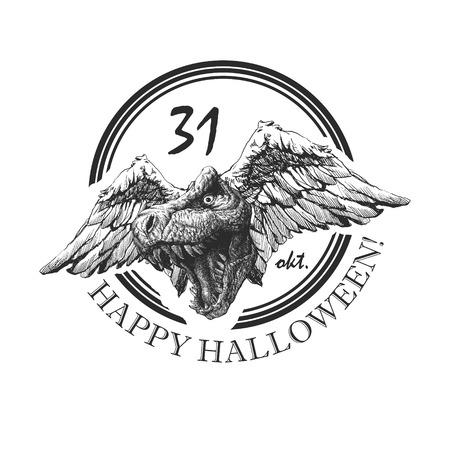 design element for halloween. hand drawn. vector eps8 Vector