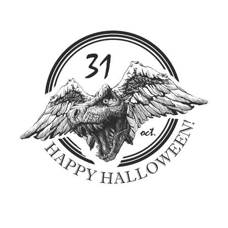 design element for halloween. hand drawn.  Vector
