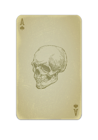 aces: Poker card vector with skull eps10 Illustration