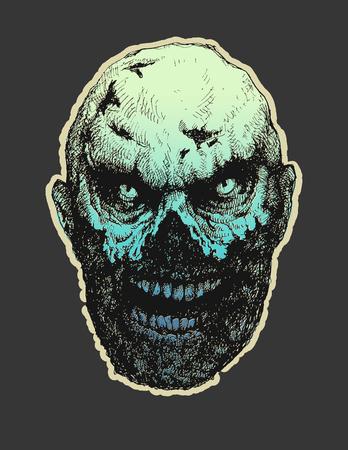 undead: Zombie. Hand drawn. Vector illustration Illustration
